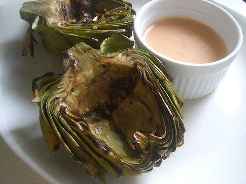 Grilled Artichokes with Garlic Aioli