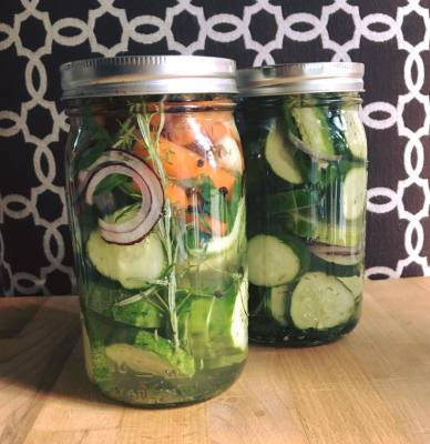 Quick, Clean Refrigerator Pickles