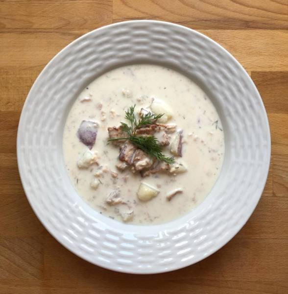 New England Clam Chowder... actually it's CHOWDAH!
