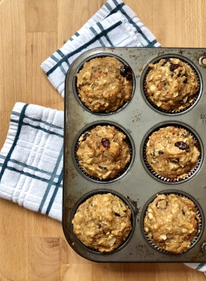 Morning Glory Muffins with Ancients Grains