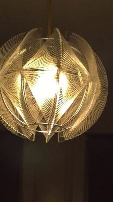 Geometric metal and wire lamp