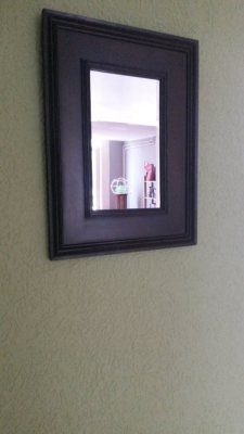 Small wooden mirror