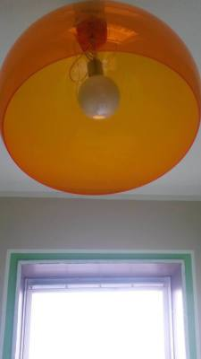 Orange Kartell FLY Lamp