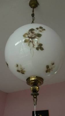 Antique painted glas lamp