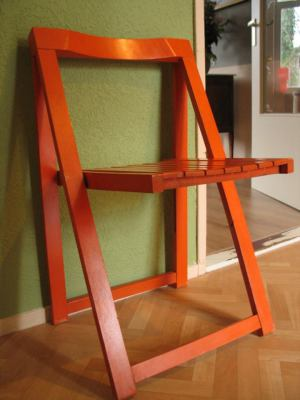 Orange wooden chair