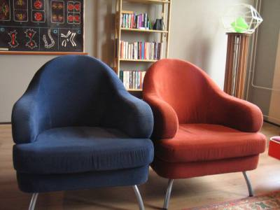 Two similar chairs
