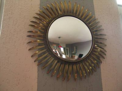 Antique sun shape mirror - 1960's
