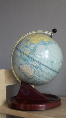 World globe from 1953
