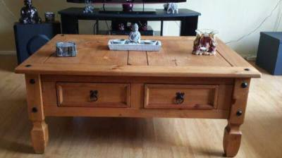 Mexican Pine Wood Coffee table