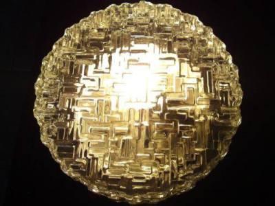 Retro glass ceiling light.