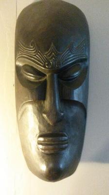 Handmade wooden mask