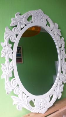 Antique wooden framed mirror