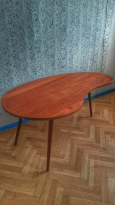 1960's Kidney shaped coffee table