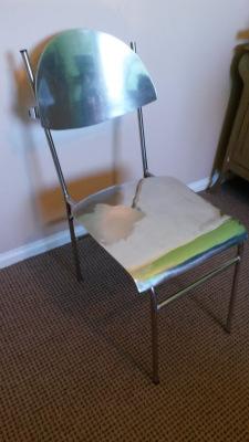 Antique, Industrial Metal chair