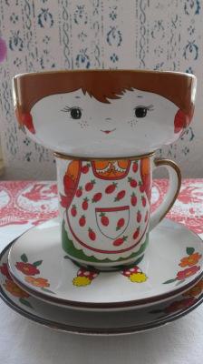1970's Breakfast ceramics set