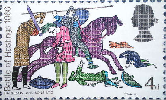 Battle of Hastings, 1066, stamps,