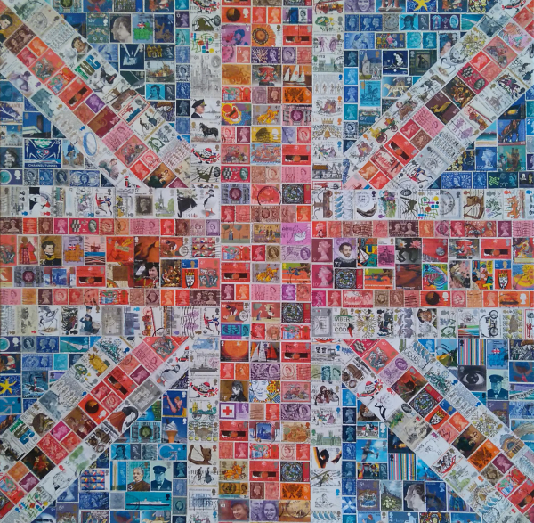 Union Jack, stamps, United Kingdom, Flag