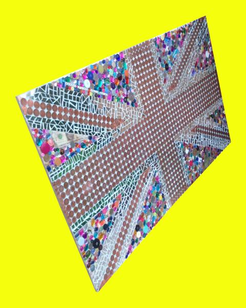 Union Jack, Flag, Great Britain, mosaic,