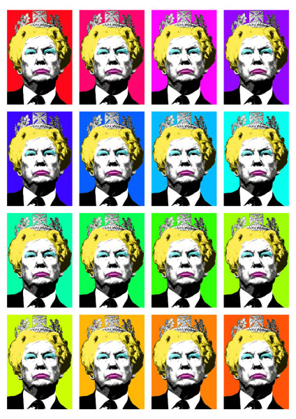Donald Trump, The Queen, Marilyn Monroe,