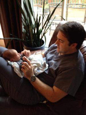 What is it about the oldest having his first baby?