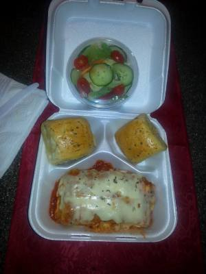 Lasagna Lunch Special