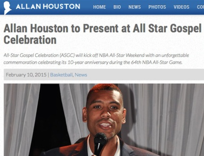 NBA Legend ALLEN HOUSTON