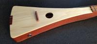Bloodwood and cherry stick dulcimer, aspen top