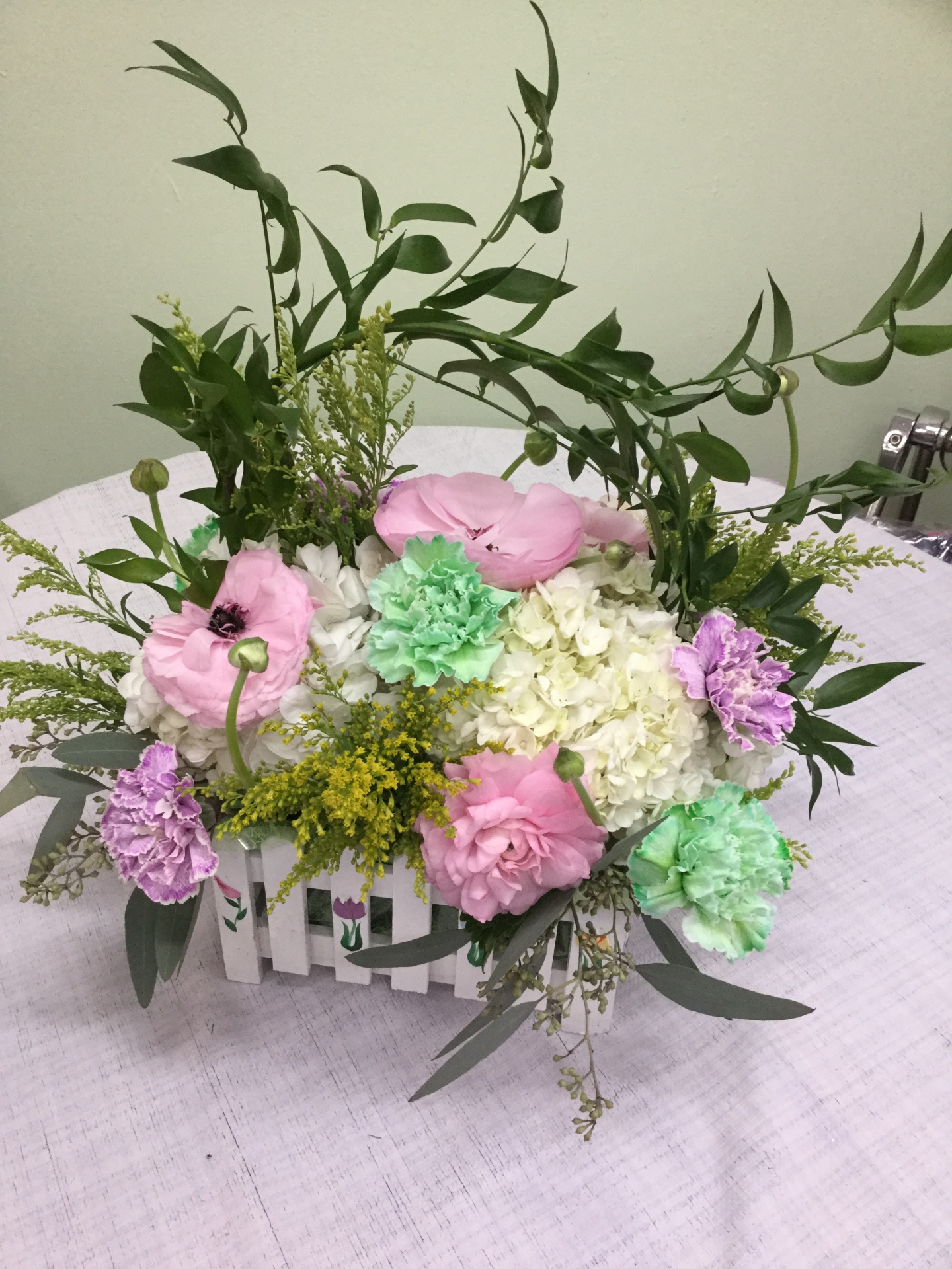Spring Arrangement in a Basket