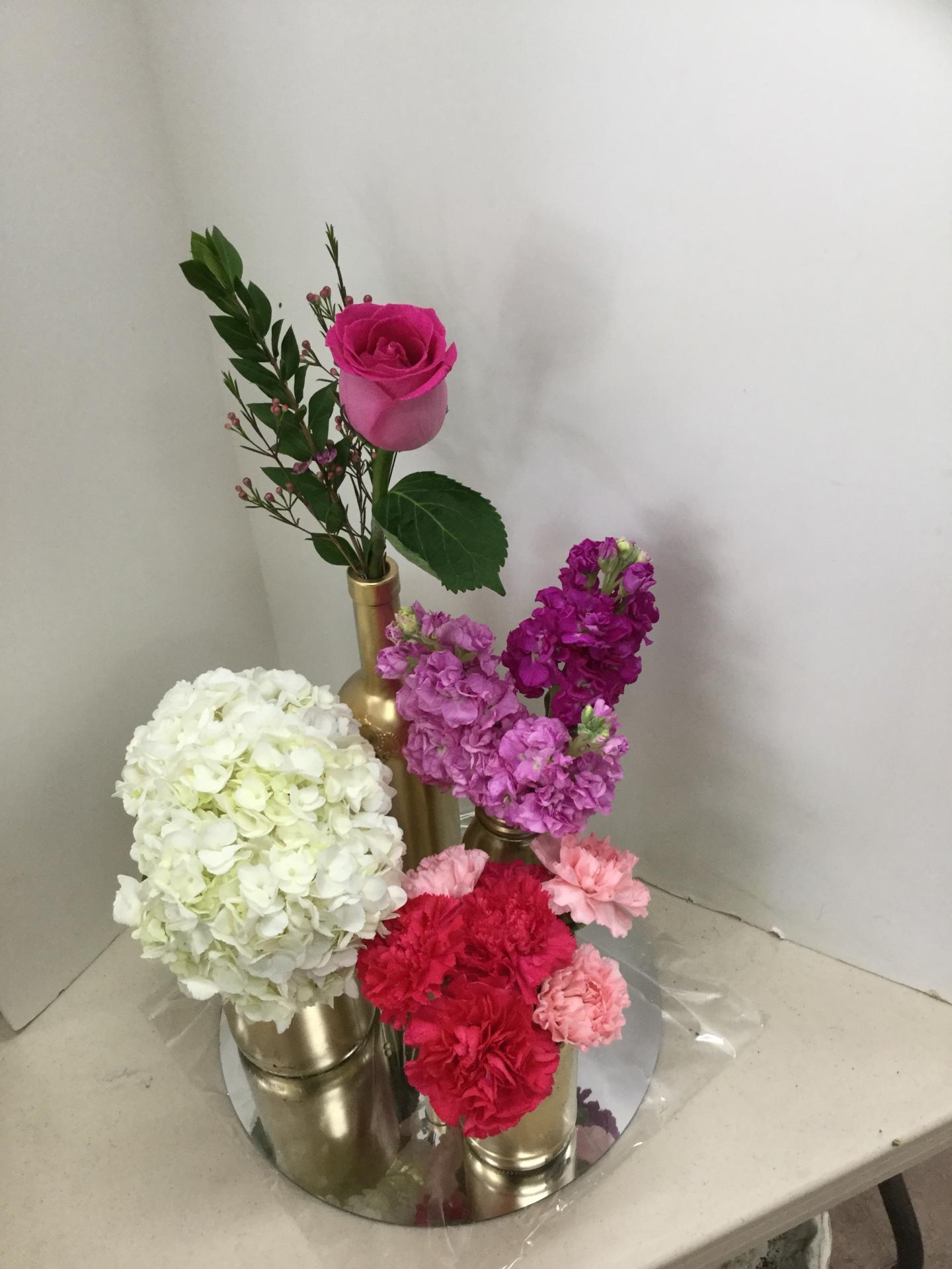 Wedding Centerpieces - Cluster of Vases