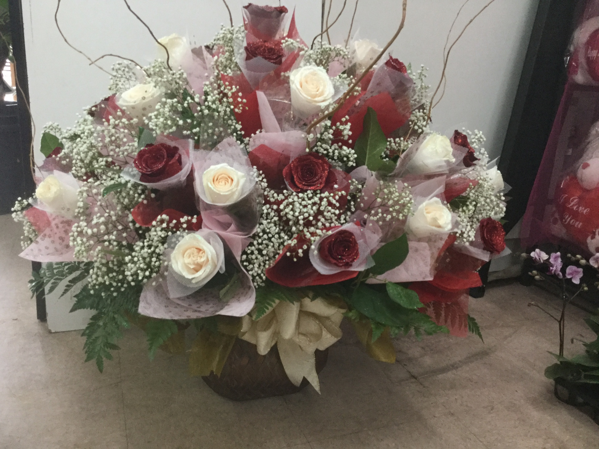 Three Dozen Roses - Container Arrangement