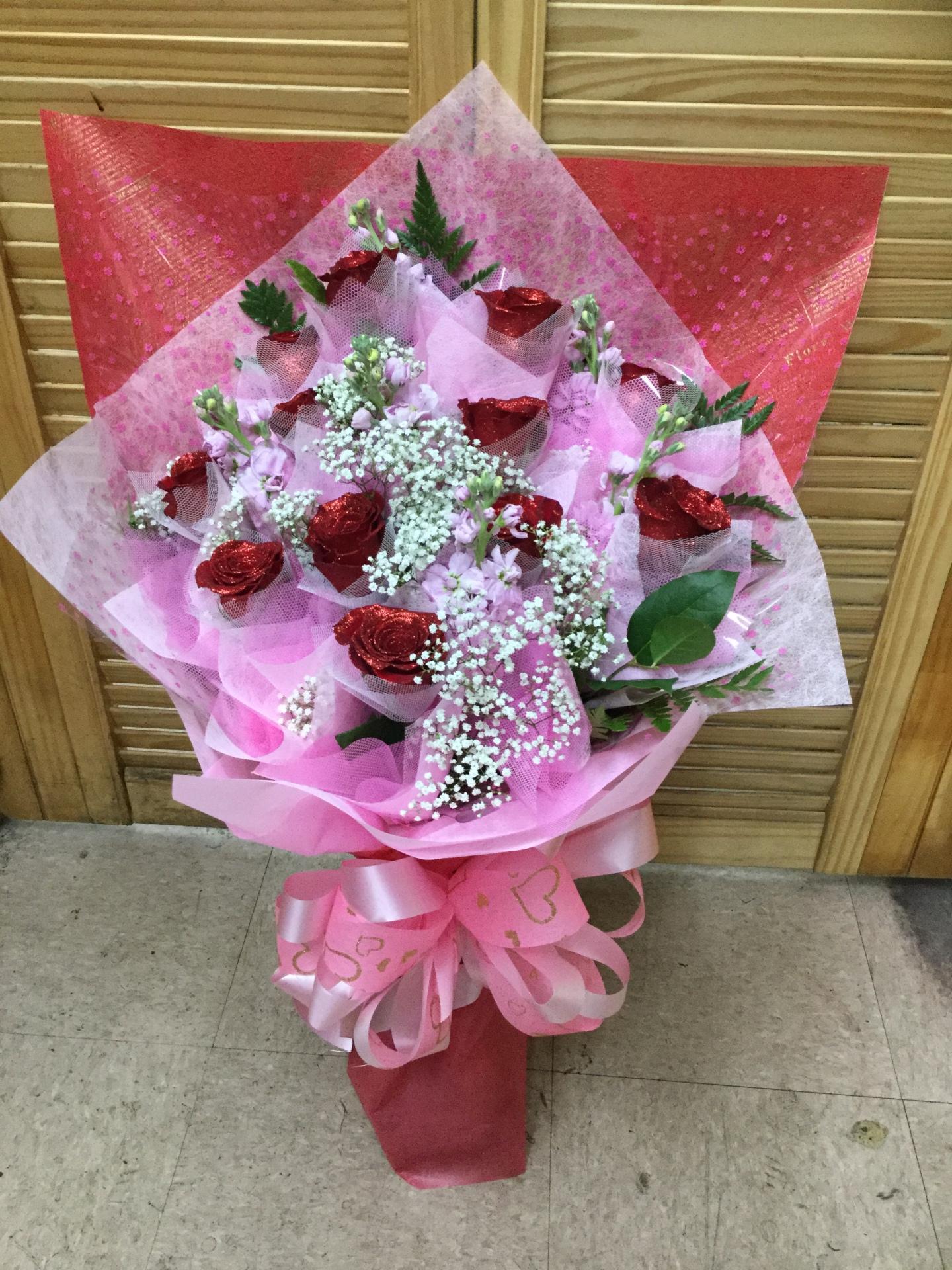 One Dozen Roses - Fancy Wrap Bouquet