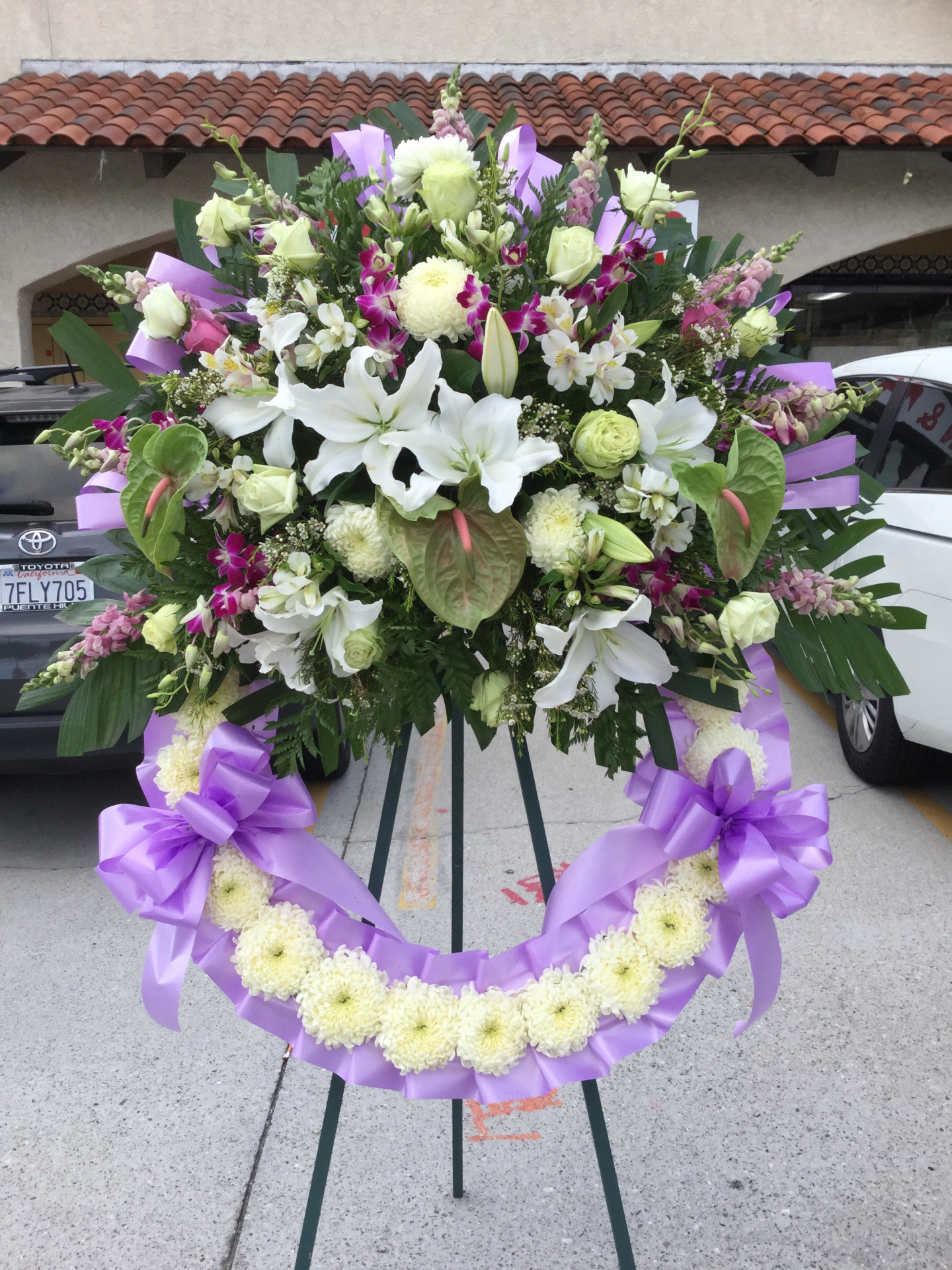 Funeral Wreath Arrangment