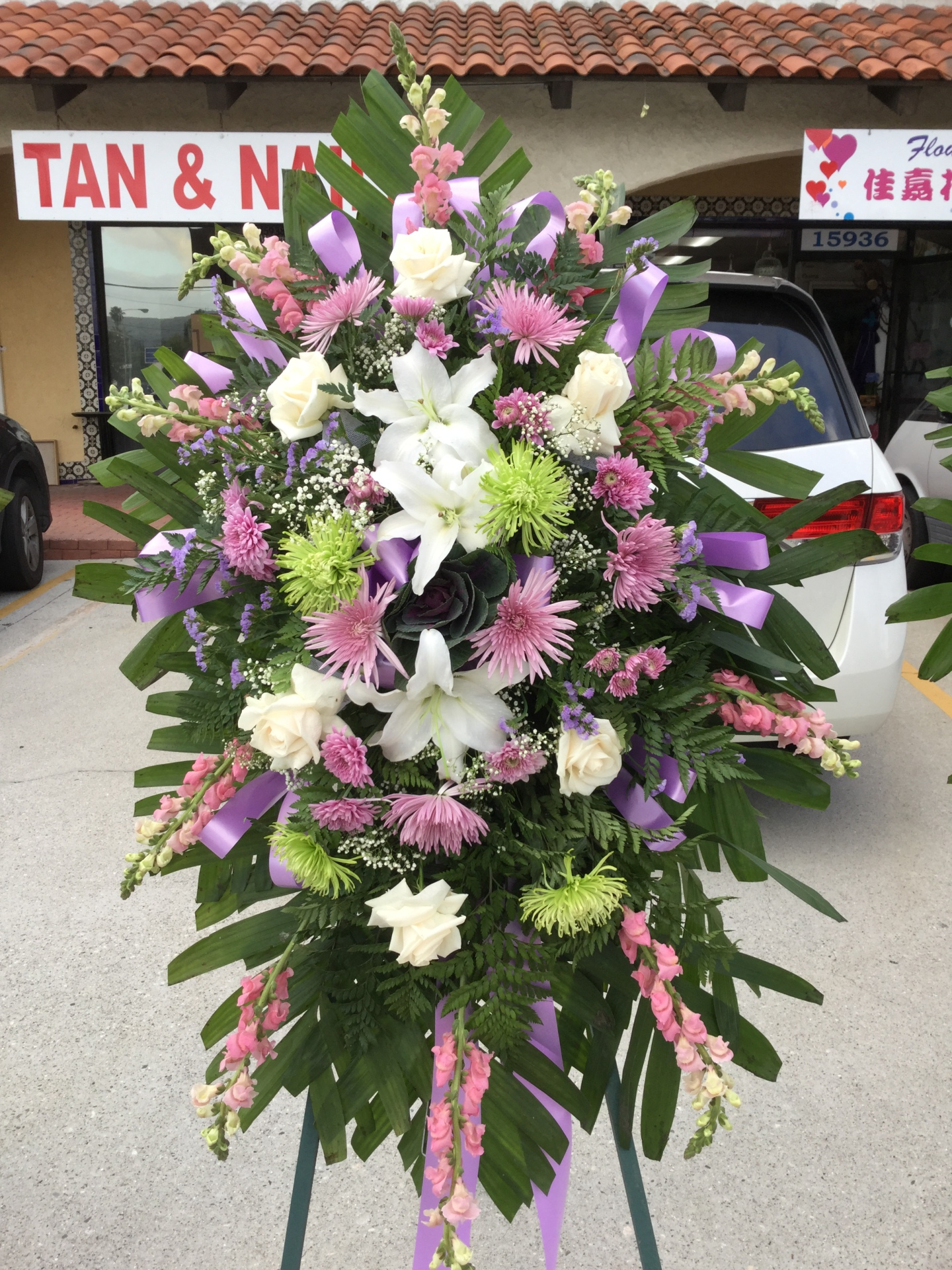 Funeral Spray - Premium