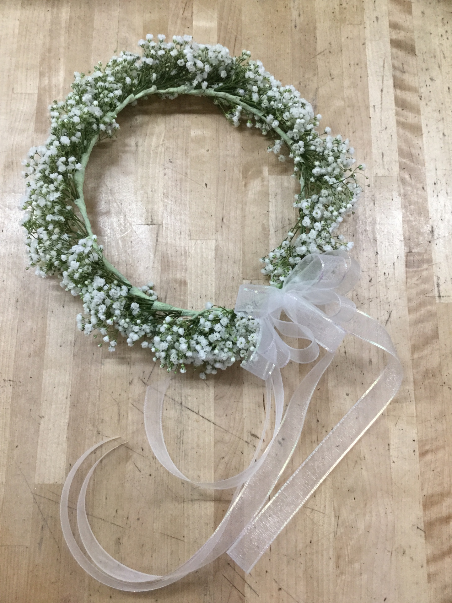 Baby's Breath - Head Wreath