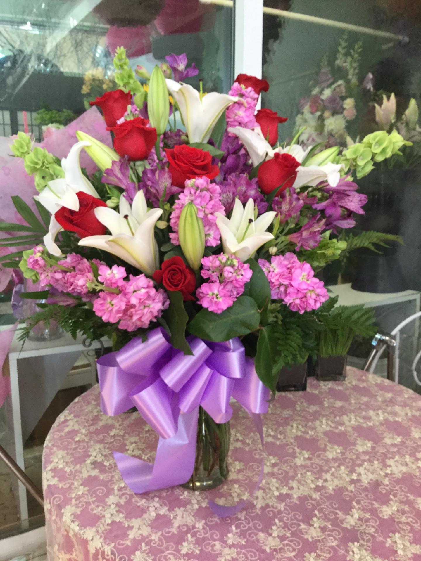 Mixed Flower Arrangement in Vase