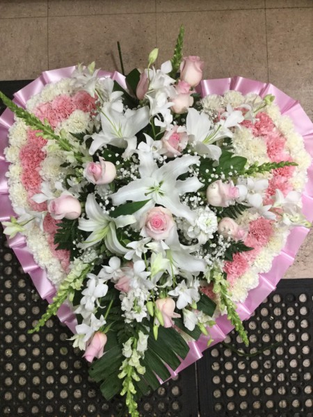 Funeral Heart Arrangement