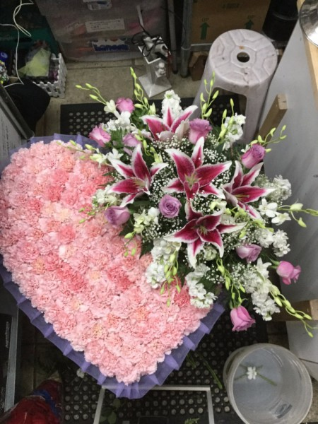 Funeral Heart Arrangment