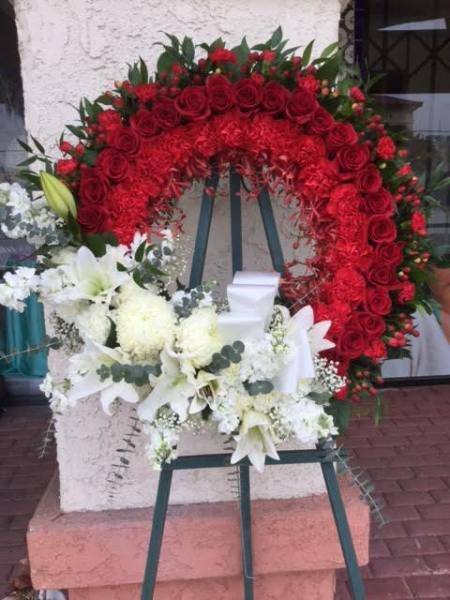 Wreath - Red & White - Customer's Design