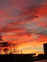 Flying through Sunset