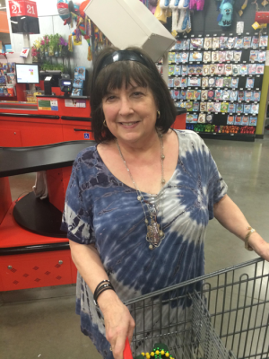 """I was in HEB Plus in Waco and I saw this girl at the cash register who had a Chi-O shirt on.  I went up and asked her if she was a Chi-Omega, and she was.  And I thought that was so neat because I was one too!  I pledged in 1977."""""