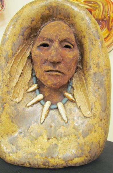 Native American Bottle Stone Image
