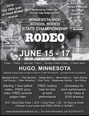 MN High School Rodeo State Finals