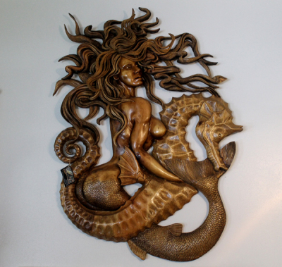 Mermaid and Sea Horse