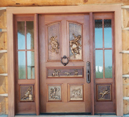 western furniture,western front door,custom front door,carved front door,gil watson,gil watson furniture