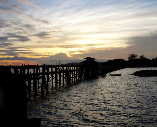 U Bein Teak Bridge at Sunset