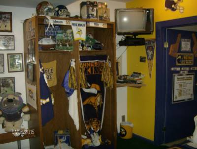 Locker Room - Full of Vikings Memorabilia!