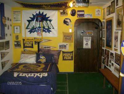 Locker Room - Full of Vikings Memorabilia!