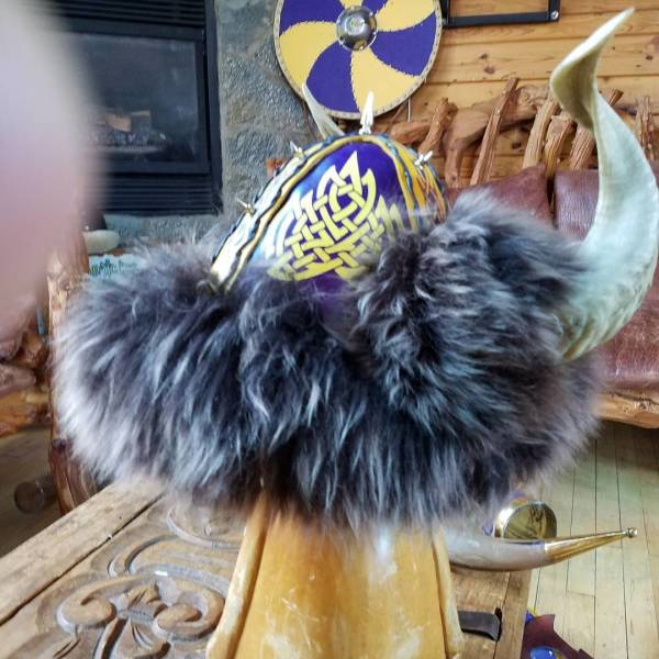 Engraved Elite Viking Helmet w/Ram Horns