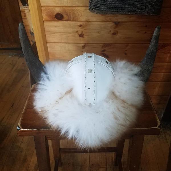 All White Viking Helmet