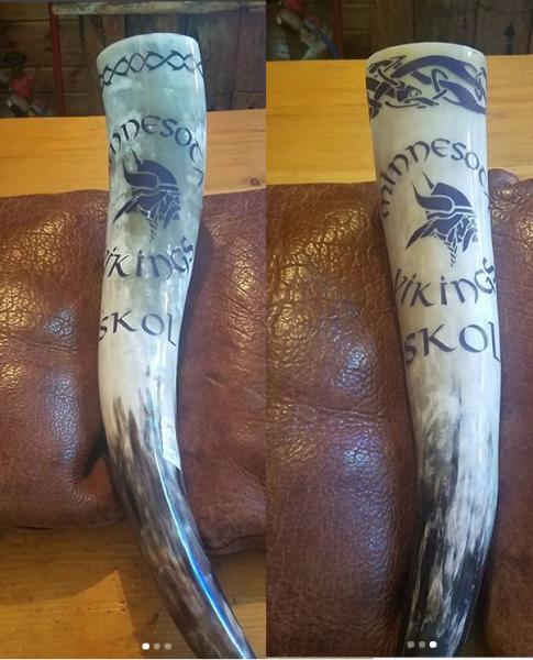 White Minnesota Vikings Drinking Horn